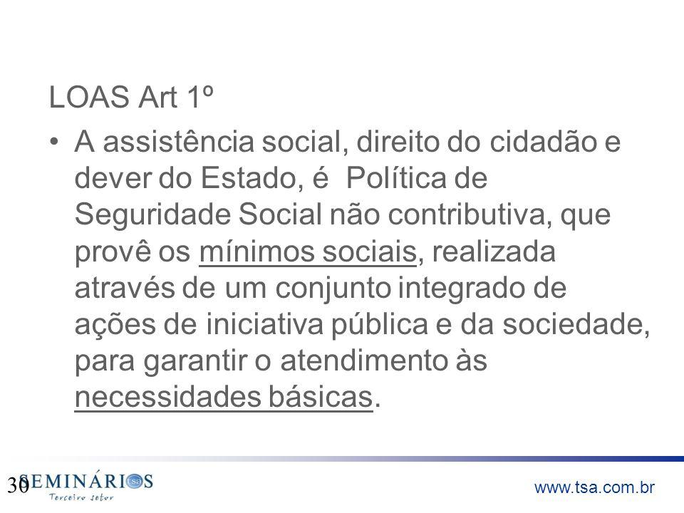 LOAS Art 1º