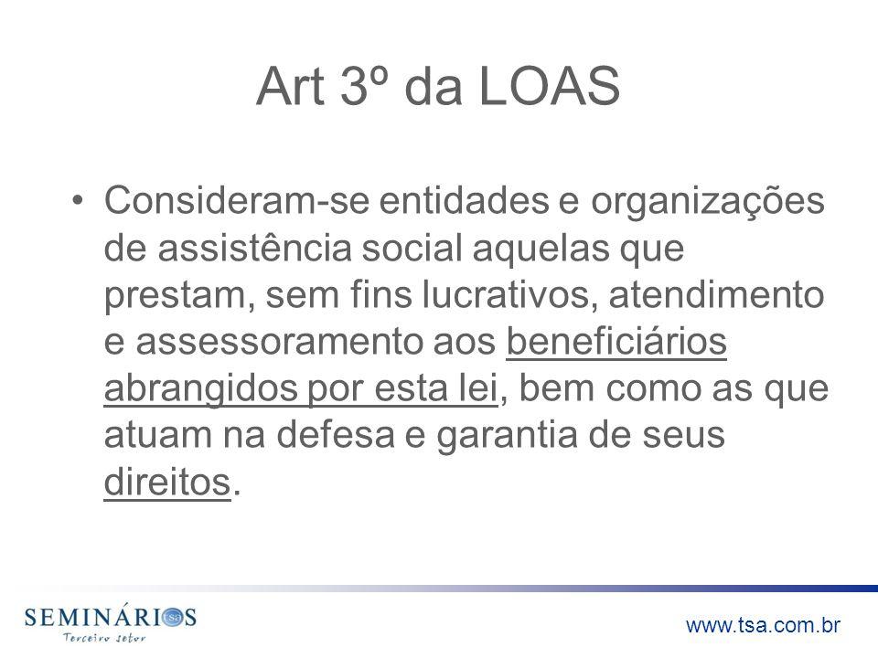 Art 3º da LOAS