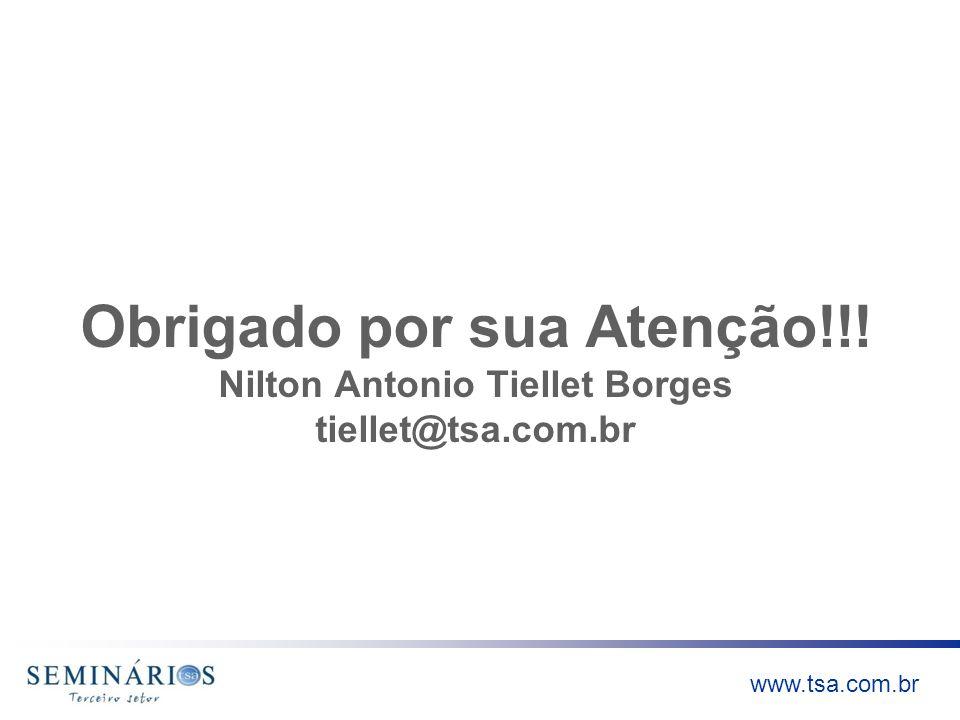 Obrigado por sua Atenção. Nilton Antonio Tiellet Borges tiellet@tsa