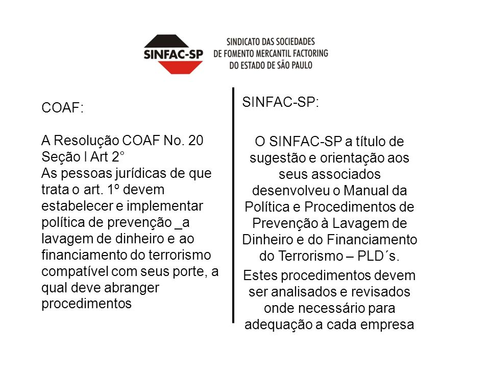 COAF: A Resolução COAF No