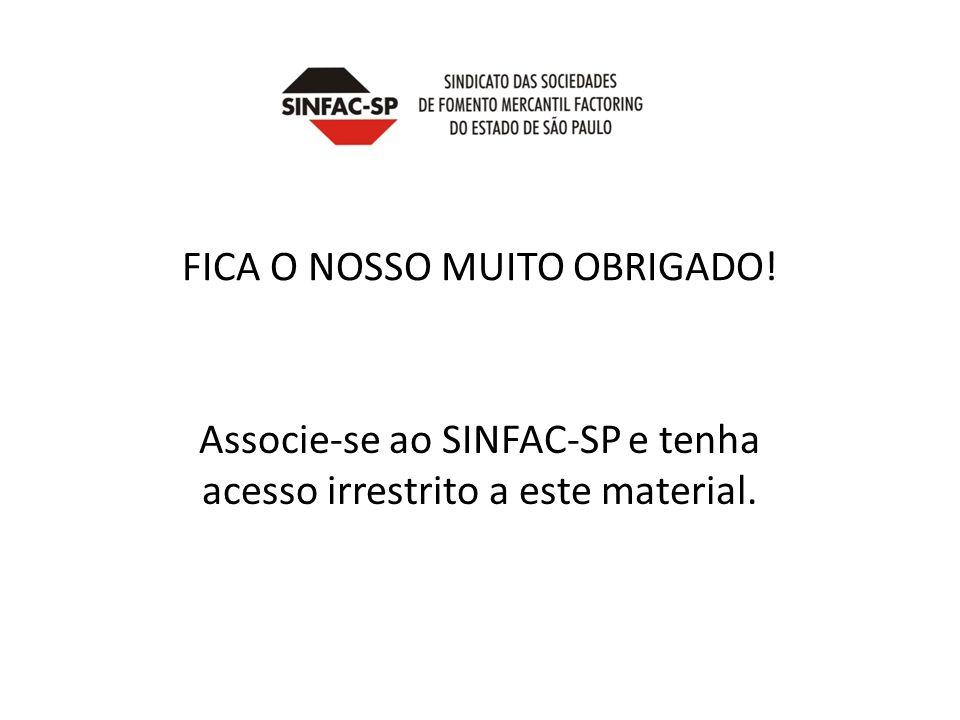 FICA O NOSSO MUITO OBRIGADO!