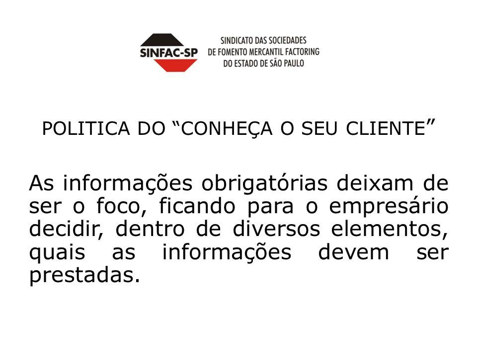 POLITICA DO CONHEÇA O SEU CLIENTE