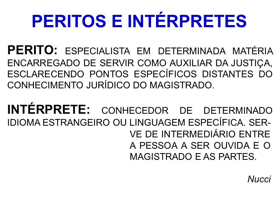 PERITOS E INTÉRPRETES