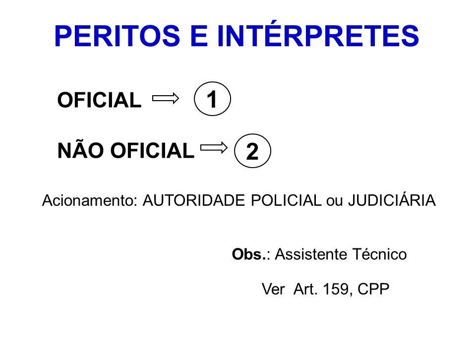 PERITOS E INTÉRPRETES 1 2 OFICIAL NÃO OFICIAL