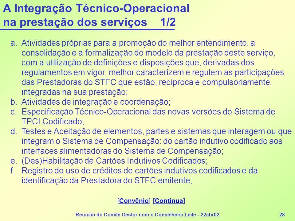 A Integração Técnico-Operacional na prestação dos serviços 1/2