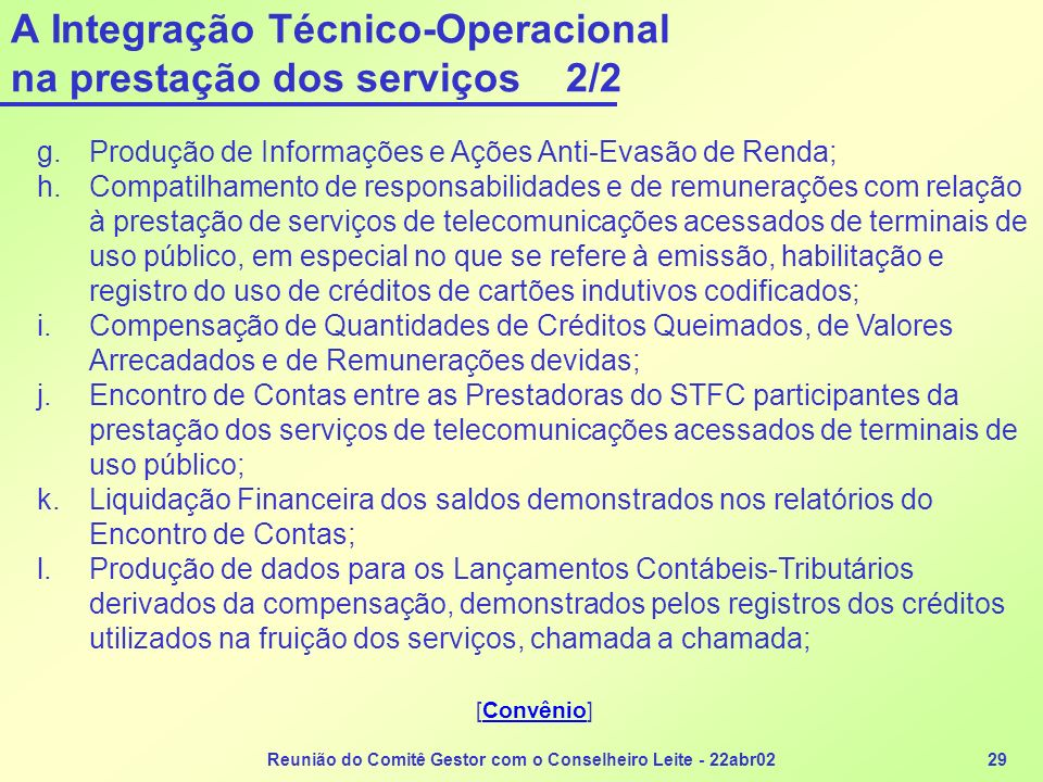 A Integração Técnico-Operacional na prestação dos serviços 2/2