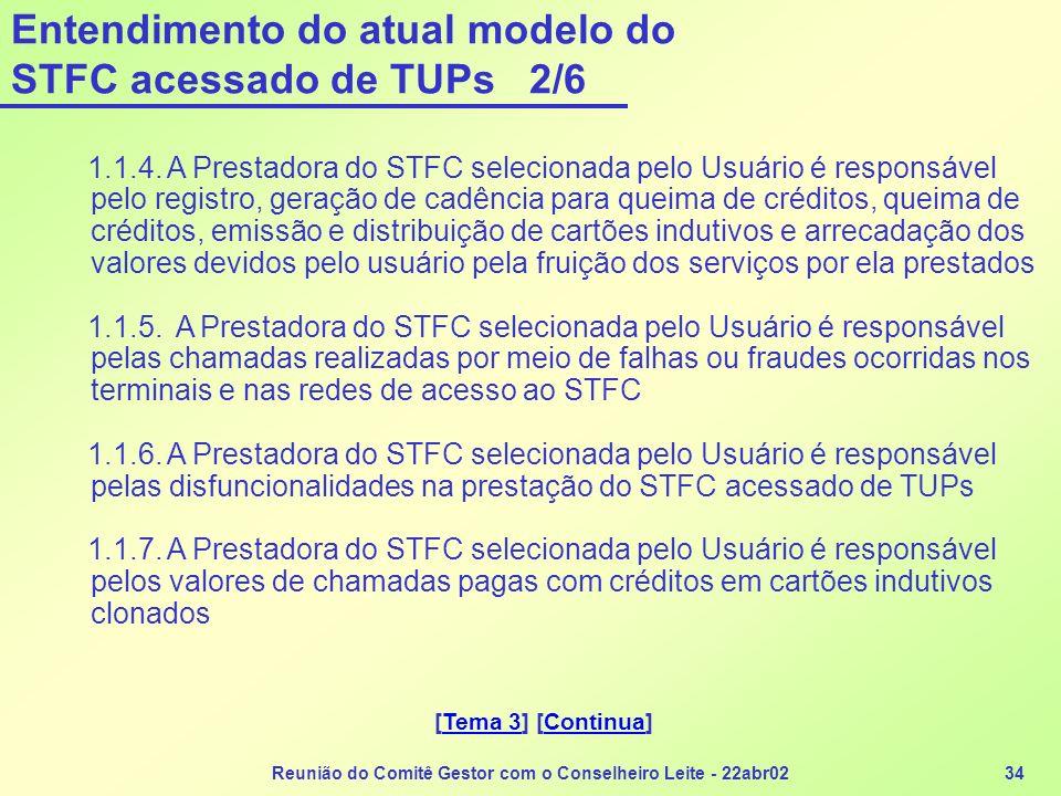 Entendimento do atual modelo do STFC acessado de TUPs 2/6