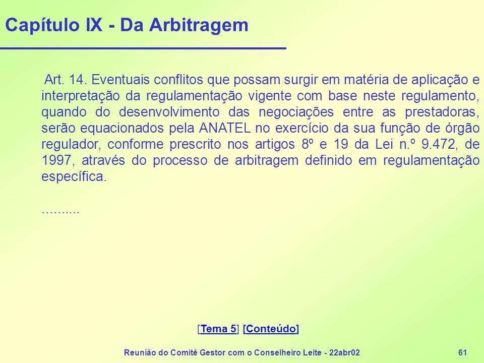 Capítulo IX - Da Arbitragem