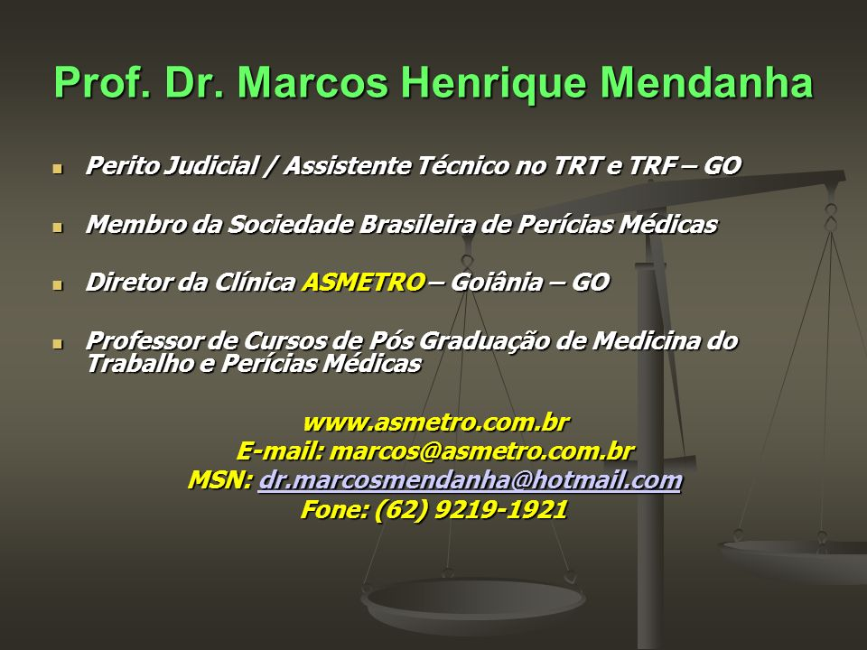 Prof. Dr. Marcos Henrique Mendanha