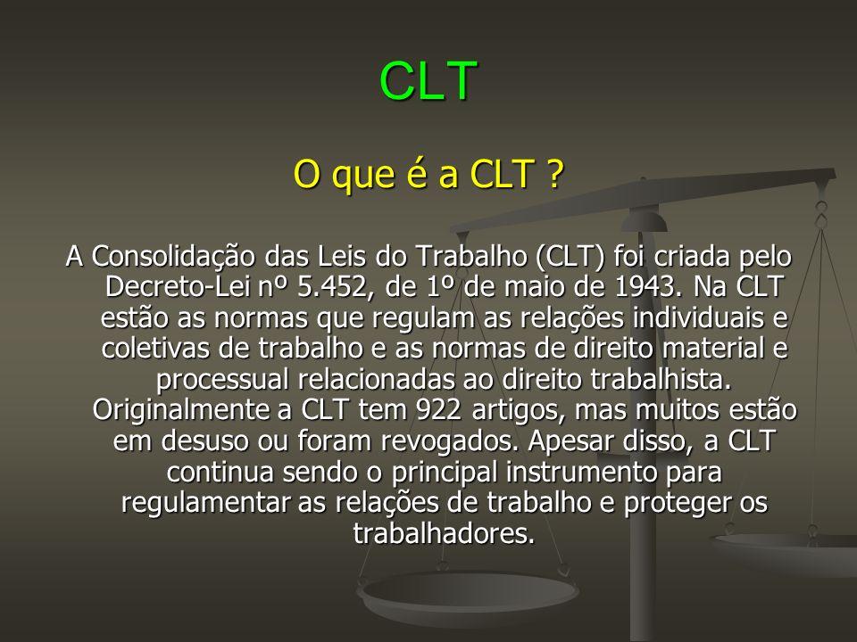CLT O que é a CLT