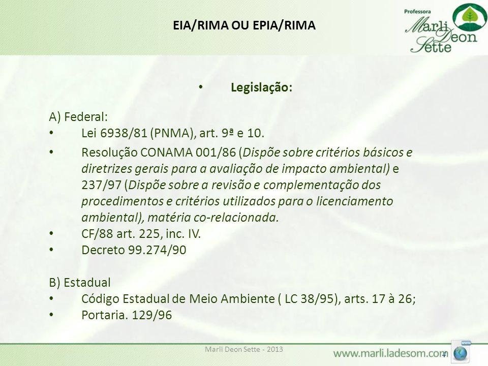 Código Estadual de Meio Ambiente ( LC 38/95), arts. 17 à 26;