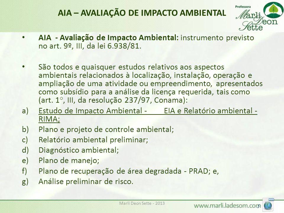 AIA – AVALIAÇÃO DE IMPACTO AMBIENTAL