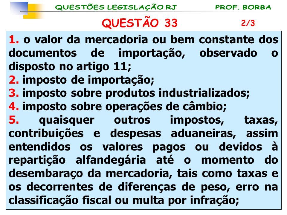 2. imposto de importação; 3. imposto sobre produtos industrializados;