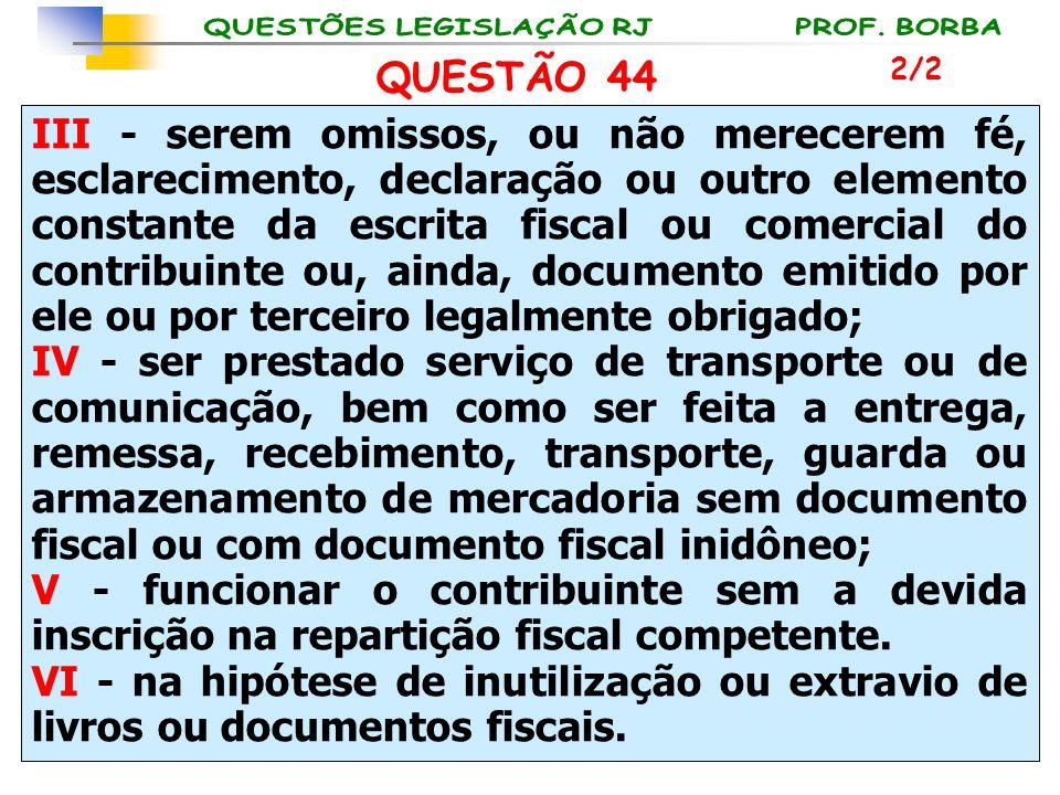QUESTÃO 44 2/2.