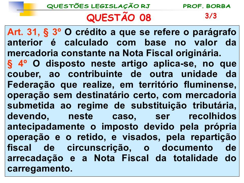 QUESTÃO 08 3/3.