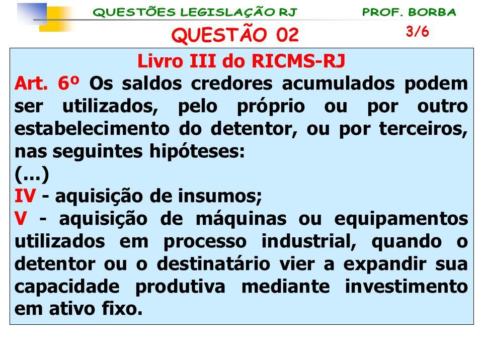 IV - aquisição de insumos;