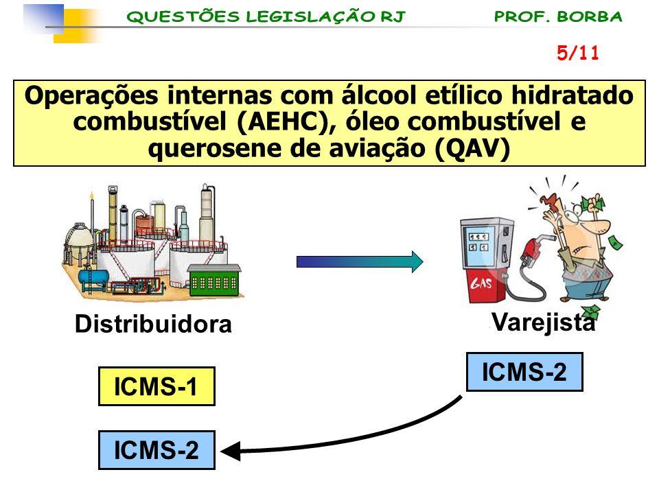 5/11 Operações internas com álcool etílico hidratado combustível (AEHC), óleo combustível e querosene de aviação (QAV)