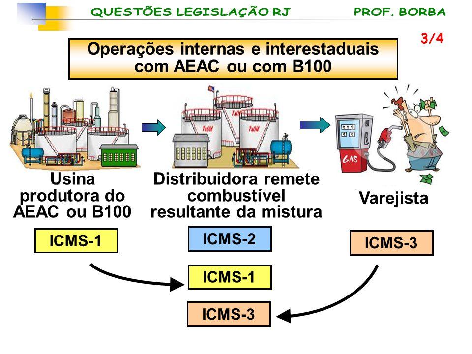 Operações internas e interestaduais com AEAC ou com B100