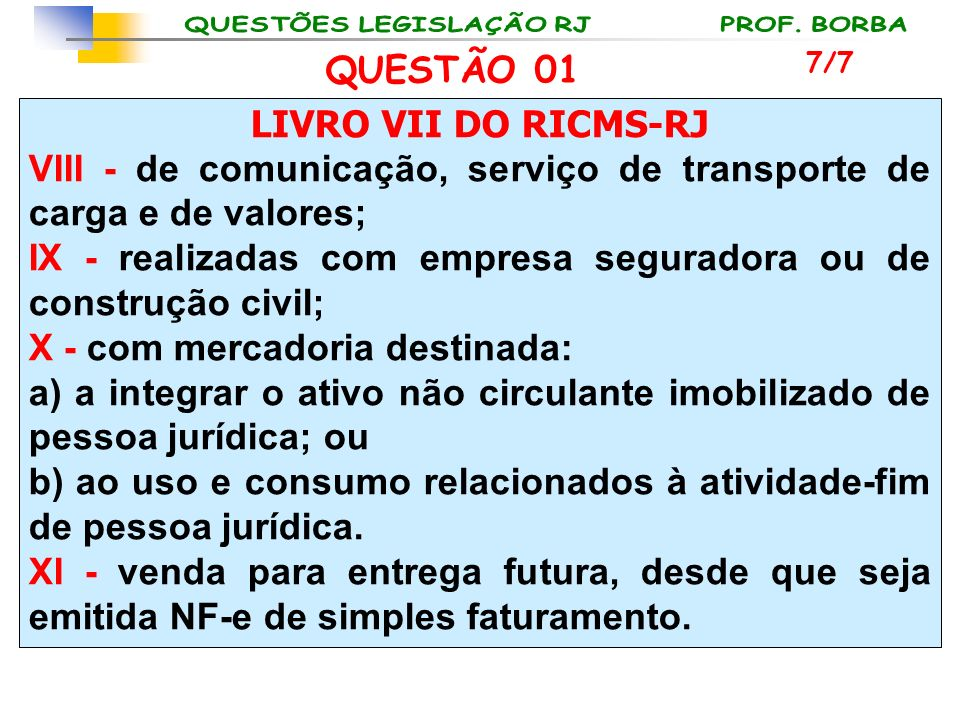 VIII - de comunicação, serviço de transporte de carga e de valores;
