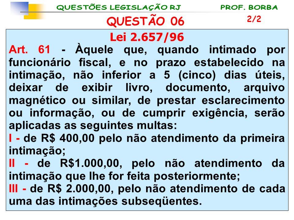 I - de R$ 400,00 pelo não atendimento da primeira intimação;