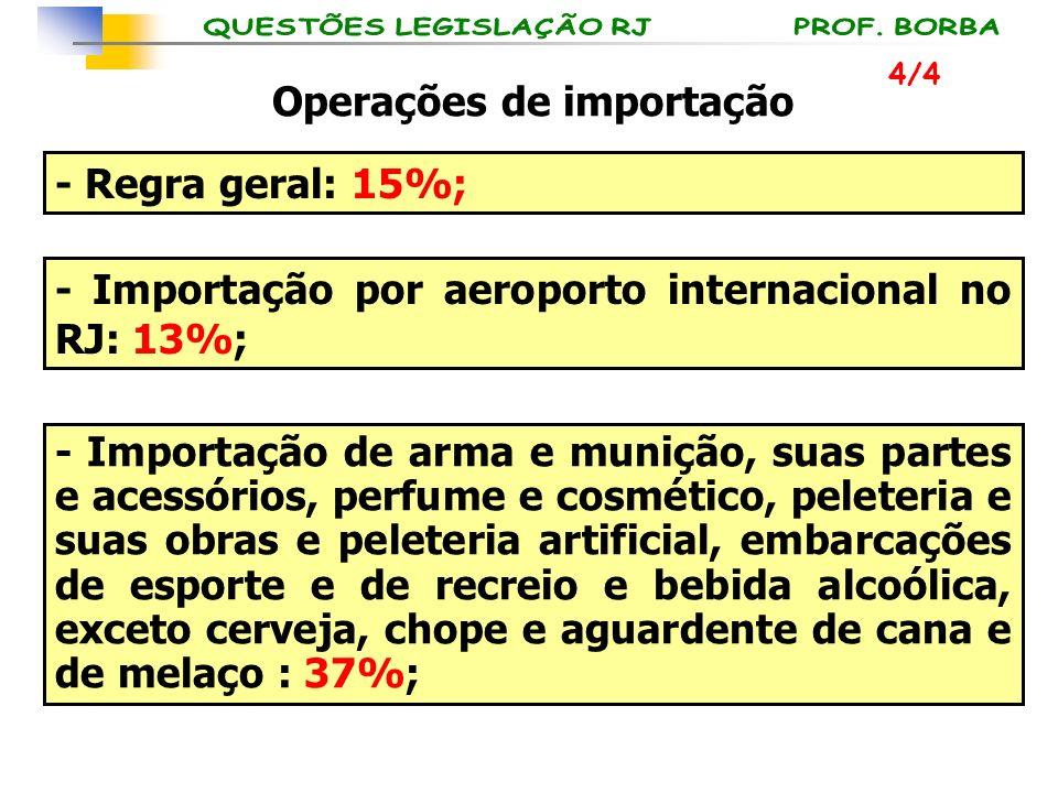 Operações de importação