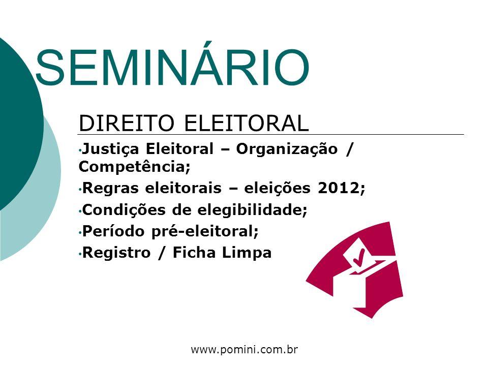 SEMINÁRIO DIREITO ELEITORAL