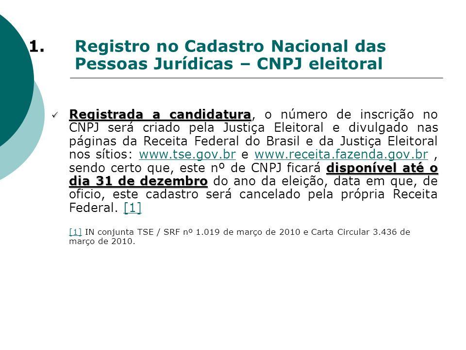1. Registro no Cadastro Nacional das