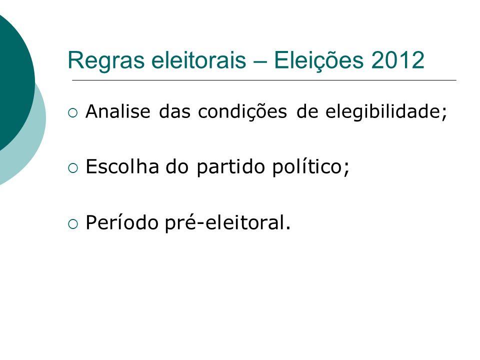 Regras eleitorais – Eleições 2012