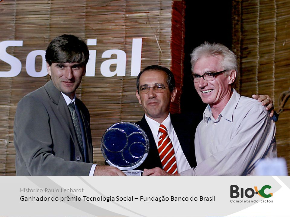 Ganhador do prêmio Tecnologia Social – Fundação Banco do Brasil