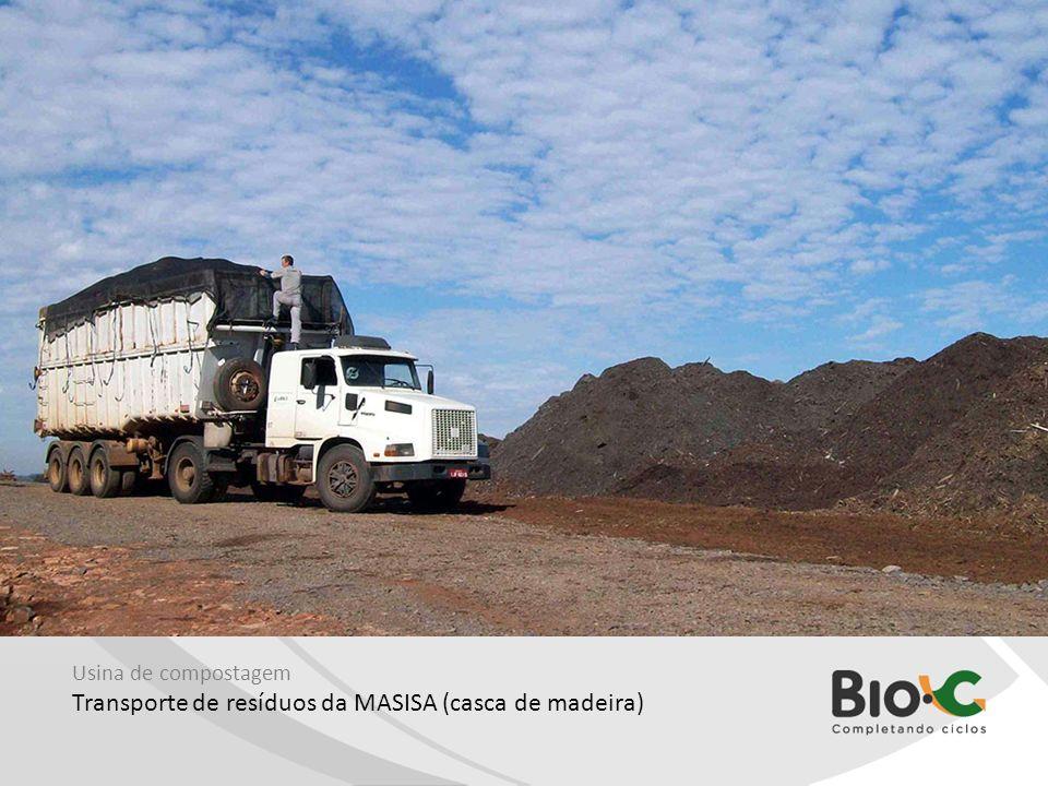 Transporte de resíduos da MASISA (casca de madeira)