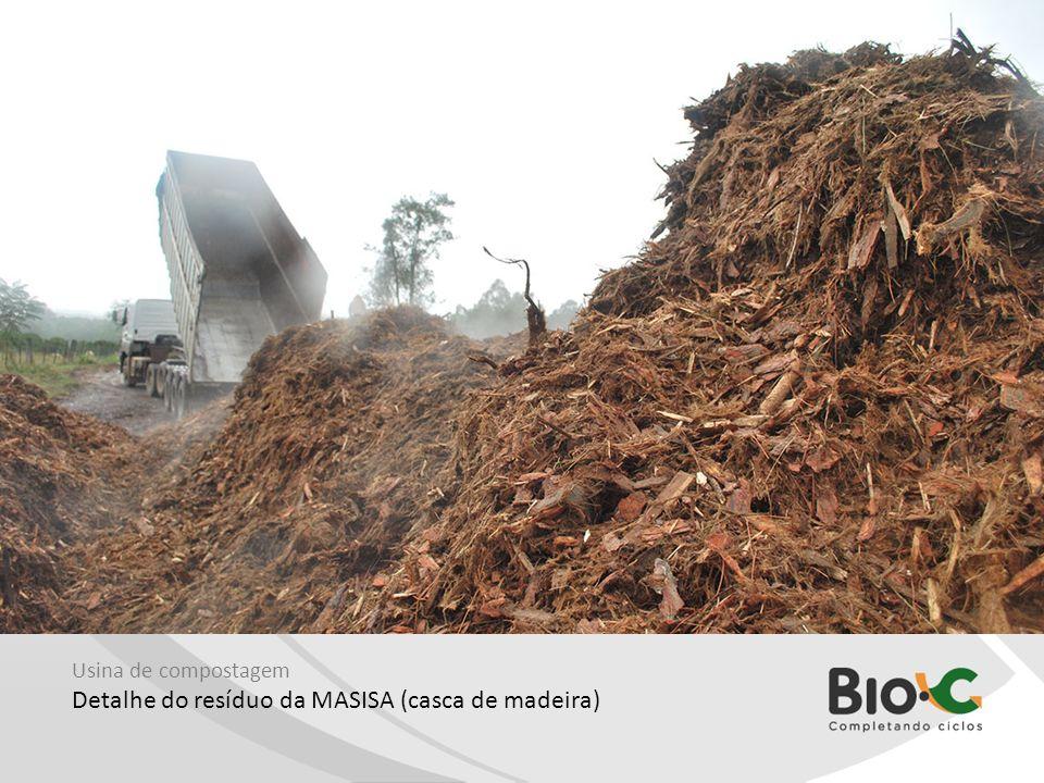 Detalhe do resíduo da MASISA (casca de madeira)