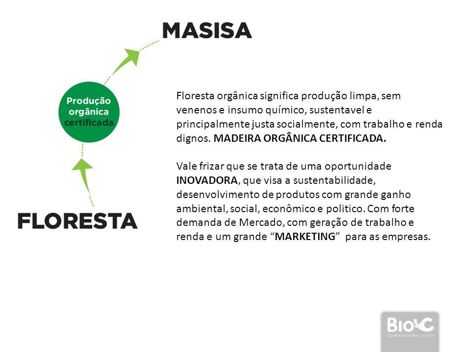 Floresta orgânica significa produção limpa, sem venenos e insumo químico, sustentavel e principalmente justa socialmente, com trabalho e renda dignos. MADEIRA ORGÂNICA CERTIFICADA.