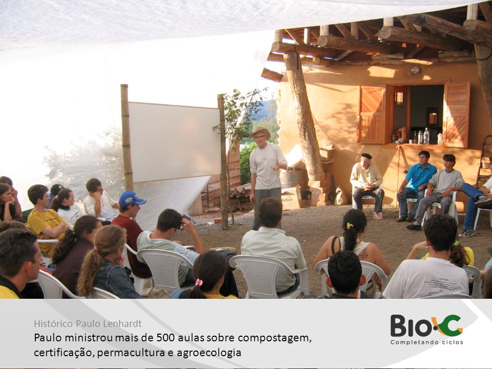 Paulo ministrou mais de 500 aulas sobre compostagem,