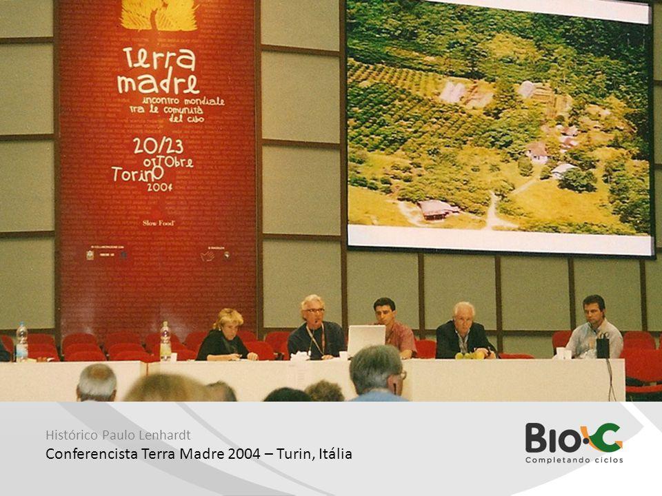 Conferencista Terra Madre 2004 – Turin, Itália