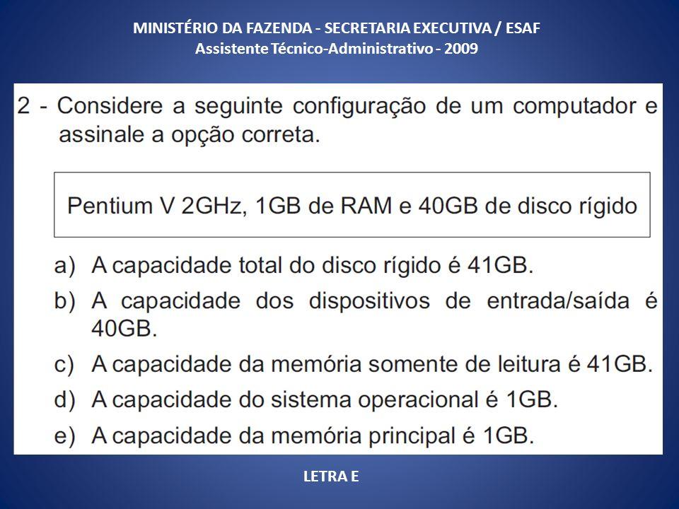 MINISTÉRIO DA FAZENDA - SECRETARIA EXECUTIVA / ESAF