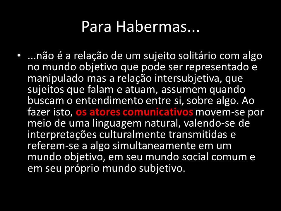 Para Habermas...