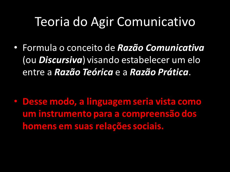 Teoria do Agir Comunicativo
