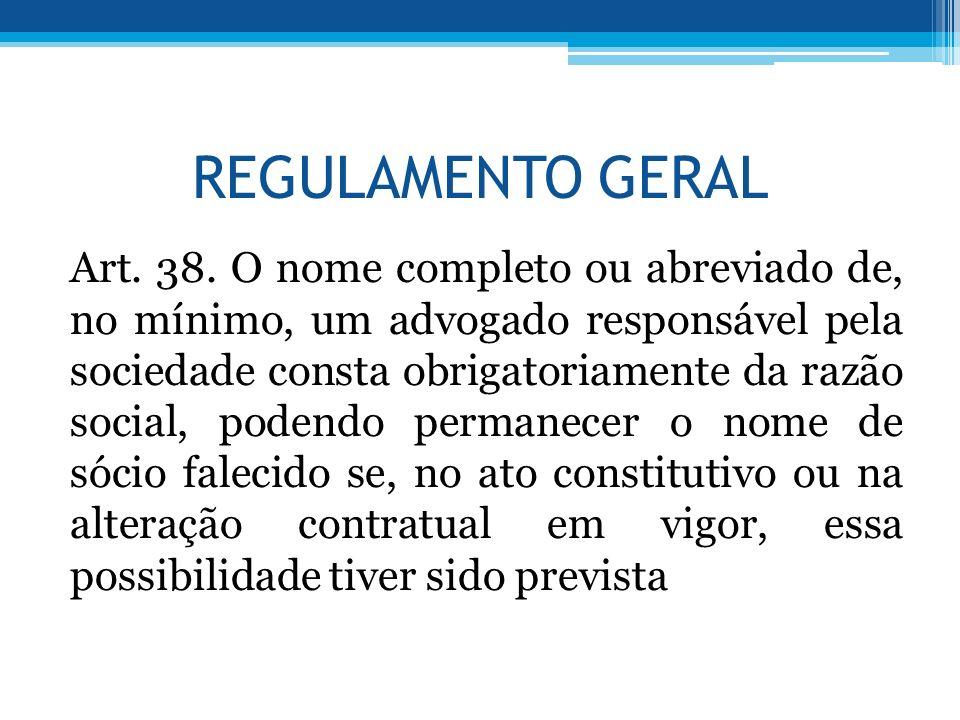 REGULAMENTO GERAL