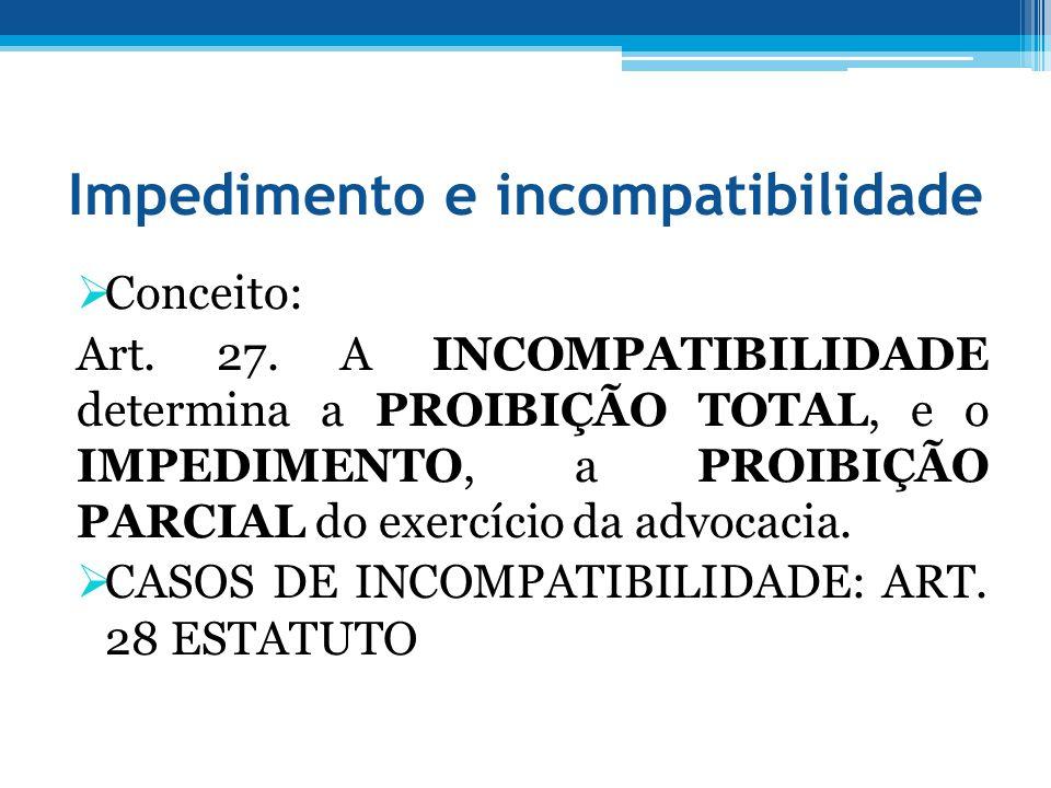 Impedimento e incompatibilidade
