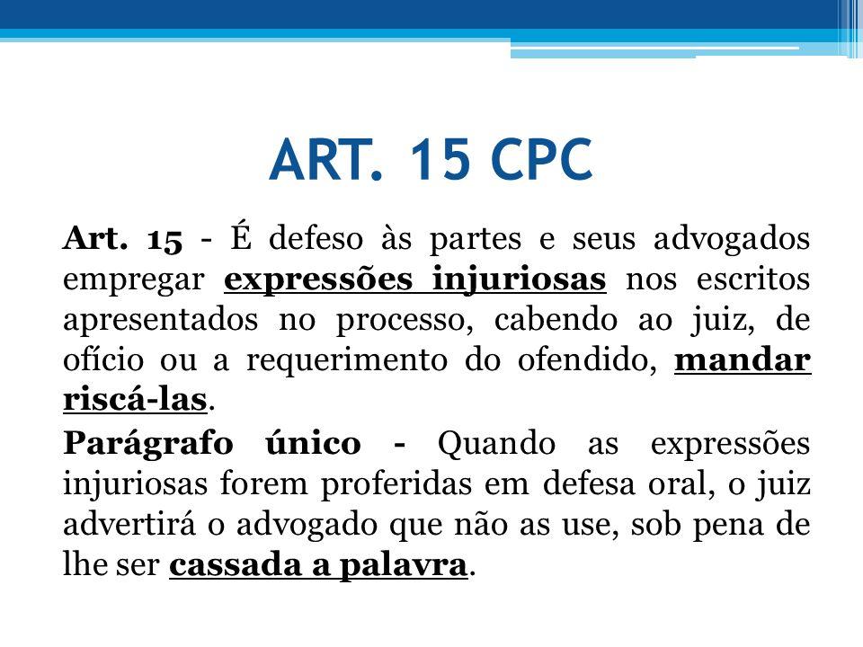ART. 15 CPC