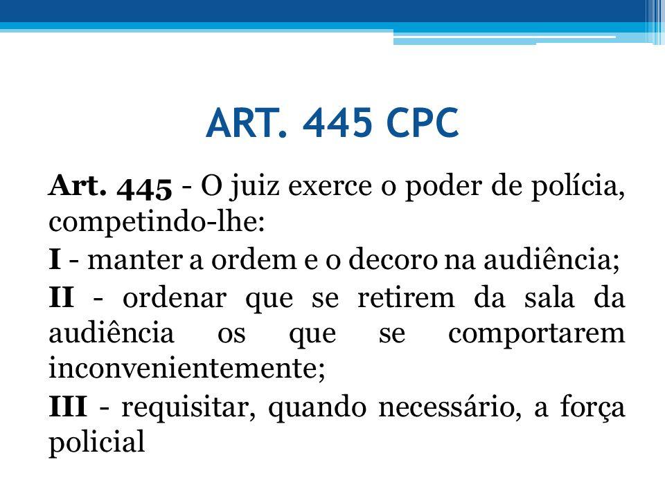 ART. 445 CPC