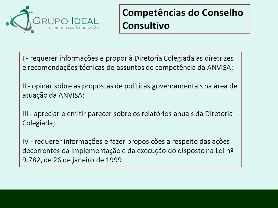 Competências do Conselho Consultivo