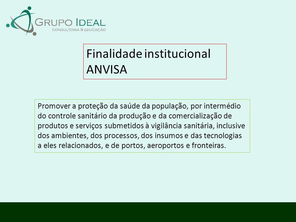 Finalidade institucional ANVISA