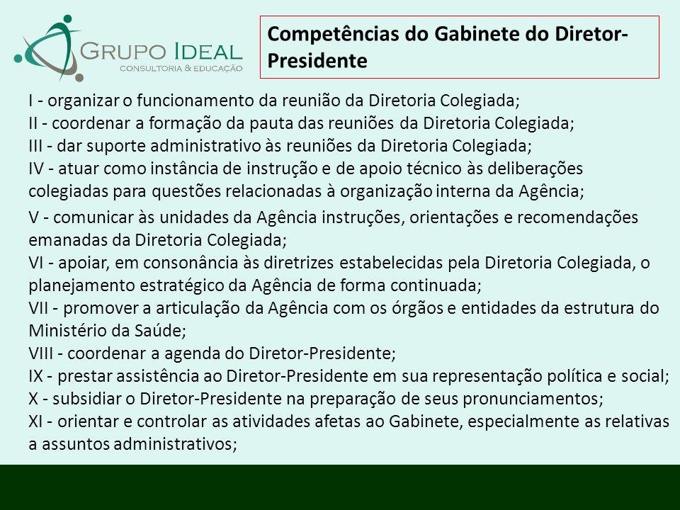 Competências do Gabinete do Diretor-Presidente