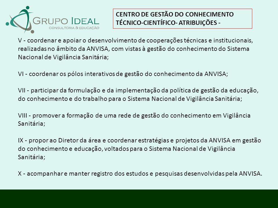 CENTRO DE GESTÃO DO CONHECIMENTO TÉCNICO-CIENTÍFICO- ATRIBUIÇÕES -