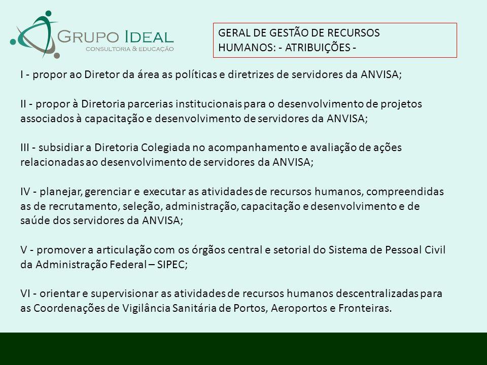 GERAL DE GESTÃO DE RECURSOS