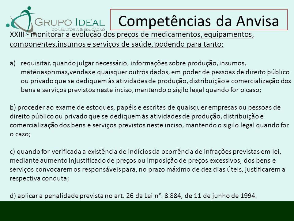 Competências da Anvisa