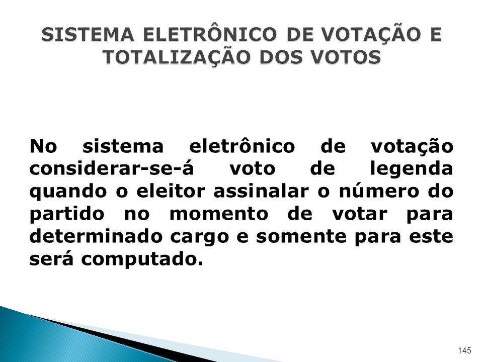 SISTEMA ELETRÔNICO DE VOTAÇÃO E TOTALIZAÇÃO DOS VOTOS