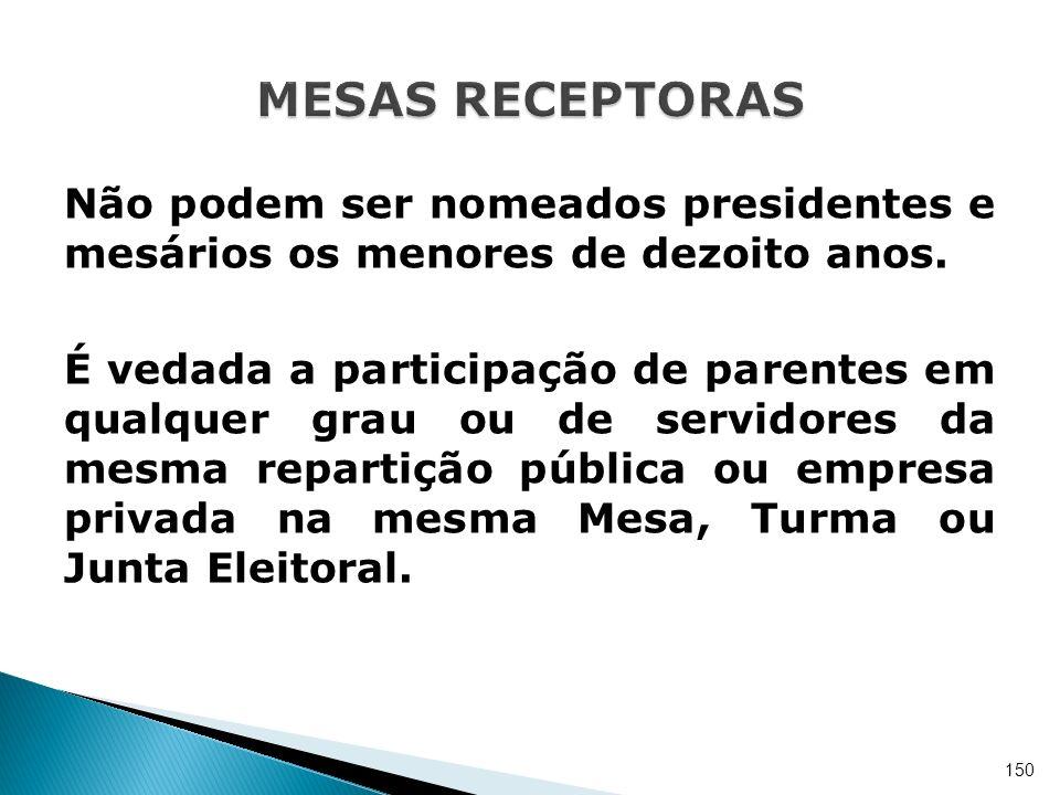 MESAS RECEPTORAS