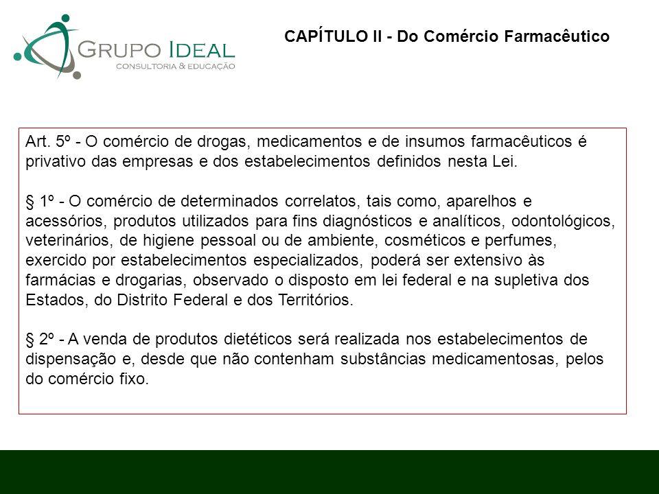 CAPÍTULO II - Do Comércio Farmacêutico